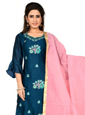 Navy Blue Party Salwar Suit