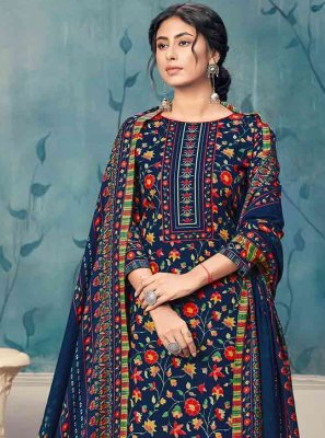 Navy Blue Party Trendy Salwar Suit