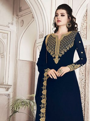 Navy Blue Party Trendy Suit