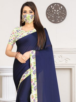Navy Blue Rangoli Casual Saree