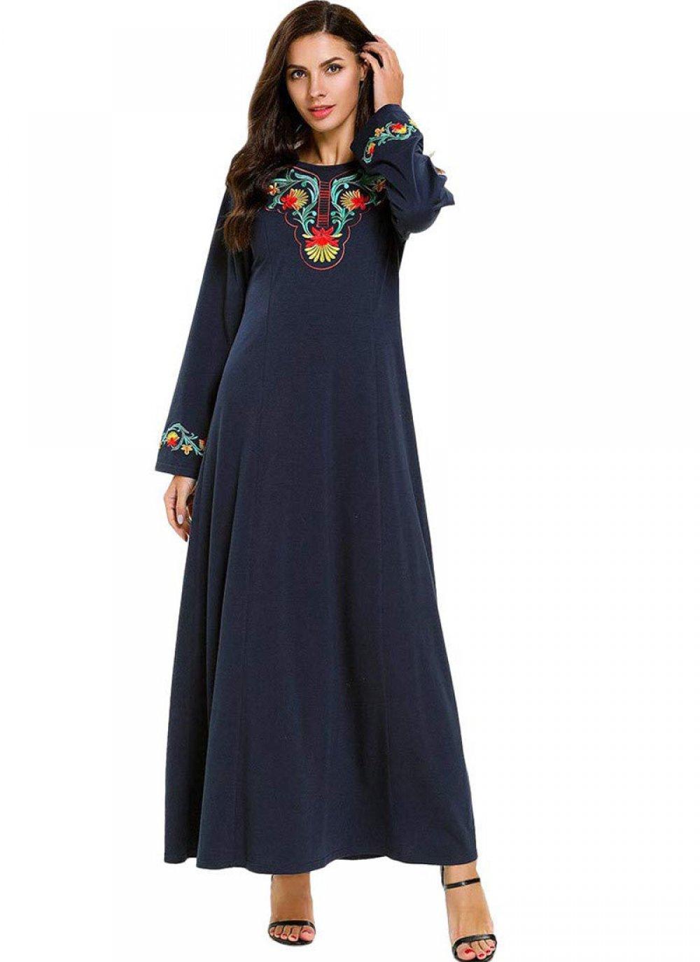 Navy Blue Rayon Mehndi Salwar Suit