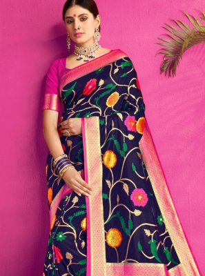 Navy Blue Reception Classic Saree