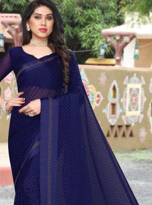Navy Blue Sangeet Saree