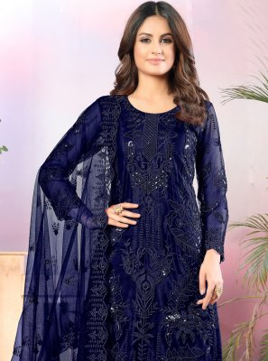 Navy Blue Thread Salwar Suit