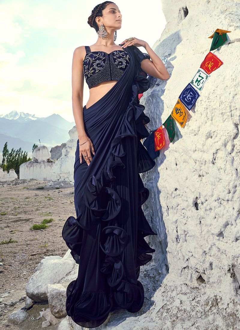 Navy Blue Traditional Saree
