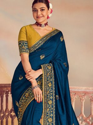 Navy Blue Wedding Classic Designer Saree