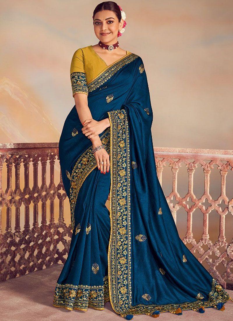 Navy Blue Wedding Classic Designer Saree