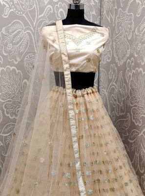 Net Ceremonial Trendy A Line Lehenga Choli