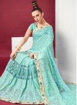 Net Classic Designer Saree in Blue
