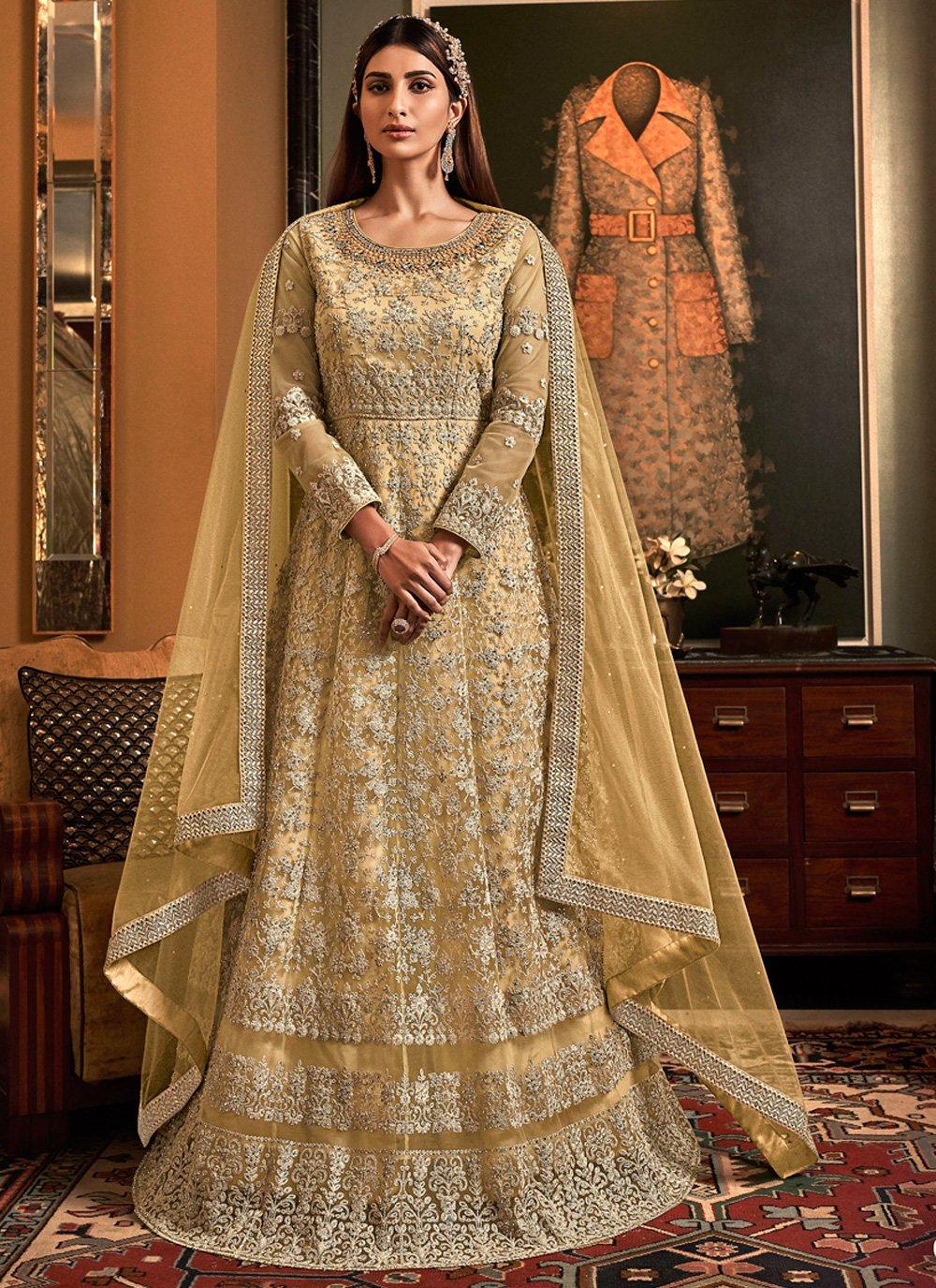 Net Embroidered Floor Length Anarkali Salwar Suit