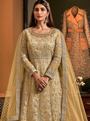 Net Embroidered Floor Length Anarkali Salwar Suit