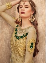 Net Embroidered Gold Trendy Lehenga Choli
