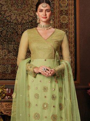 Net Green Designer Salwar Kameez