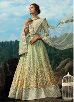 Net Green Dori Work Bollywood Lehenga Choli