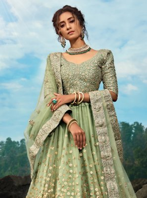 Net Green Dori Work Bollywood Lehenga Choli