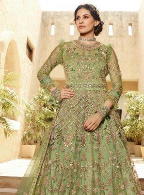 Net Green Salwar Kameez