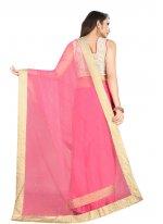 Net Pink Classic Saree