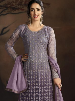 Net Purple Designer Suit