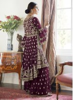 Net Purple Trendy Salwar Suit