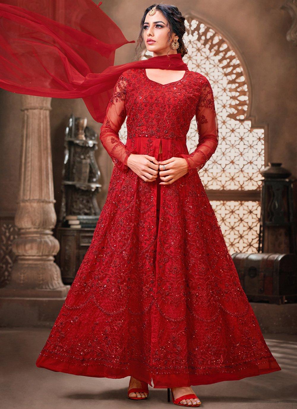Net Red Bollywood Salwar Kameez