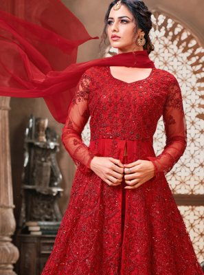 Net Red Bollywood Salwar Kameez