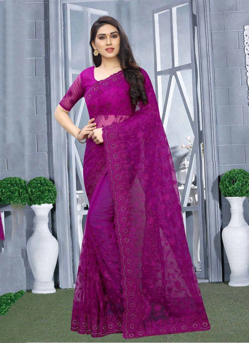 Net Resham Designer Saree