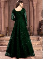 Net Salwar Suit in Green