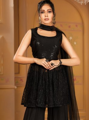 Net Sequins Salwar Suit