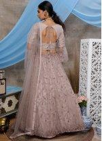 Net Thread Purple Designer Lehenga Choli