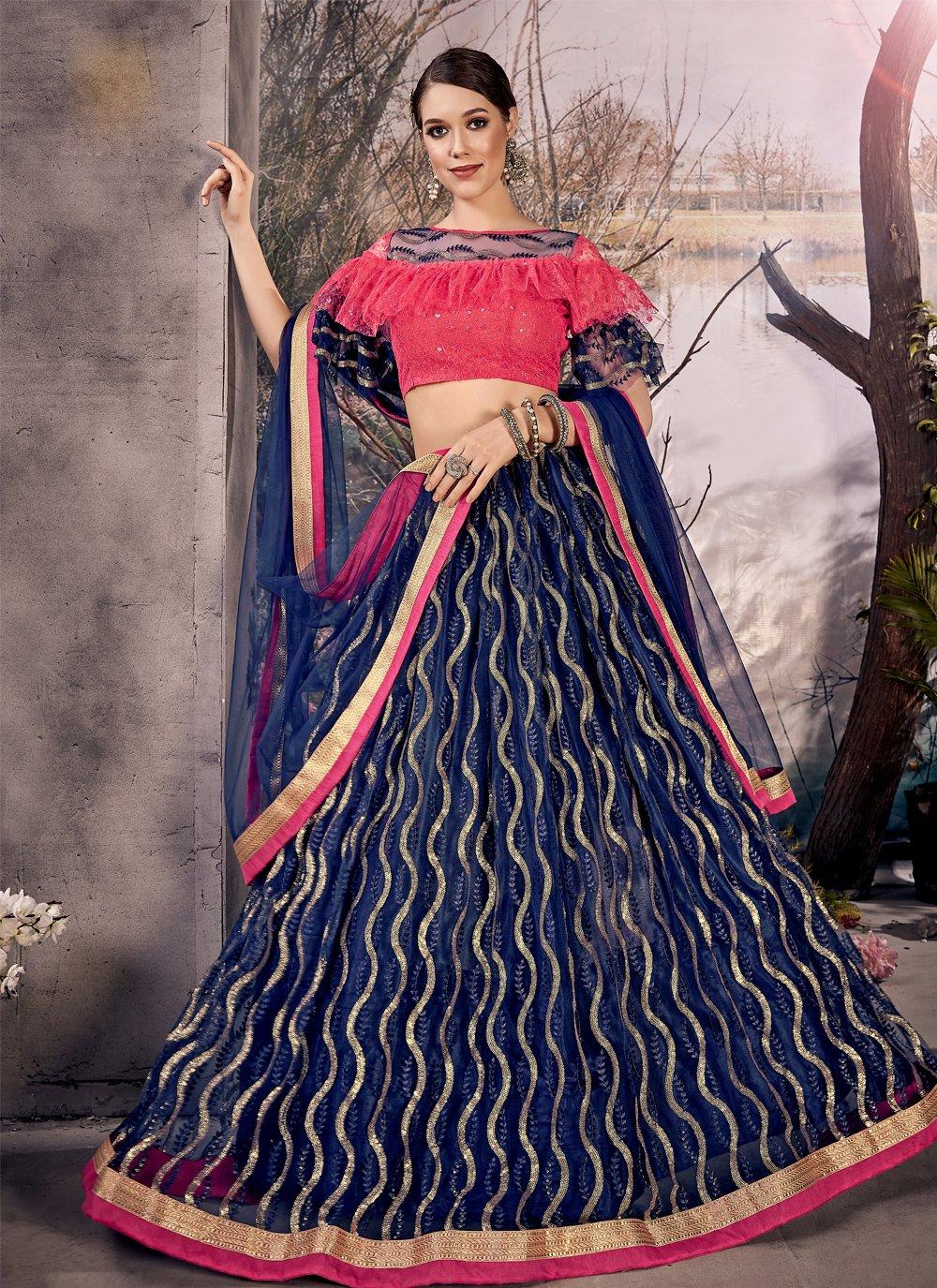 Net Zari Designer Lehenga Choli