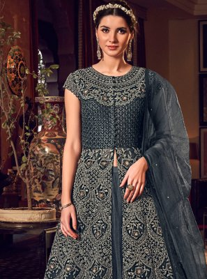 Net Zari Long Length Anarkali Salwar Suit