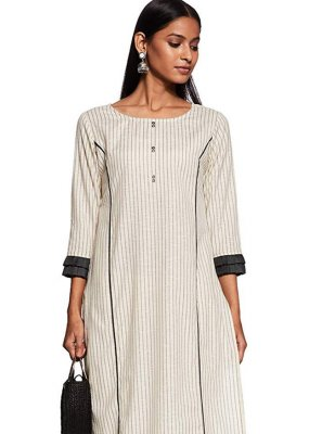 Off White Casual Party Wear Kurti