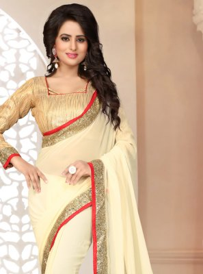Off White Color Saree