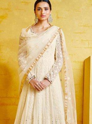 Off White Designer Salwar Kameez