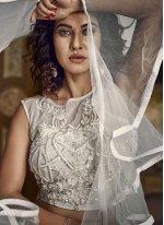 Off White Embroidered Ceremonial Designer Lehenga Choli