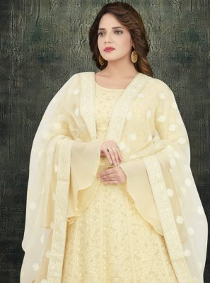 Off White Georgette Anarkali Suit