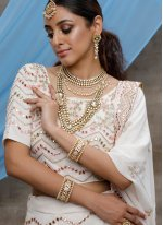 Off White Georgette Party Bollywood Lehenga Choli