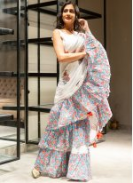 Off White Party Classic Saree