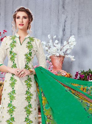 Off White Party Salwar Suit