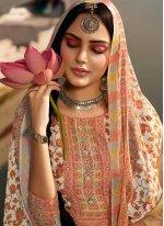Off White Pashmina Printed Salwar Suit