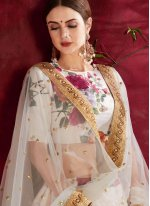 Off White Wedding Banglori Silk Lehenga Choli