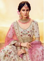 Off White Wedding Trendy Lehenga Choli