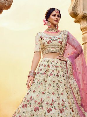 Off White Wedding Trendy Lehenga Choli