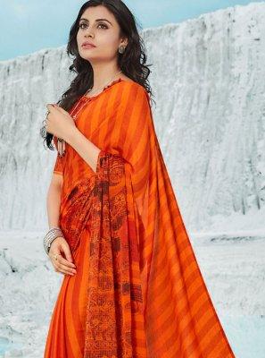 Orange Color Casual Saree