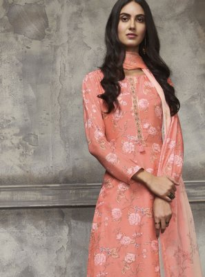 Orange Color Pakistani Salwar Kameez
