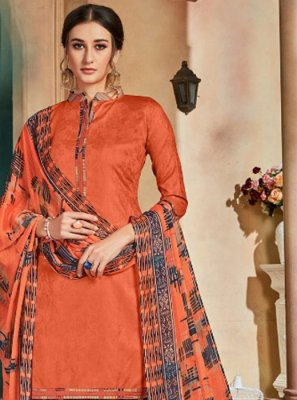 Orange Color Patiala Salwar Kameez