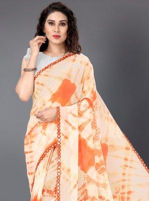Orange Festival Casual Saree