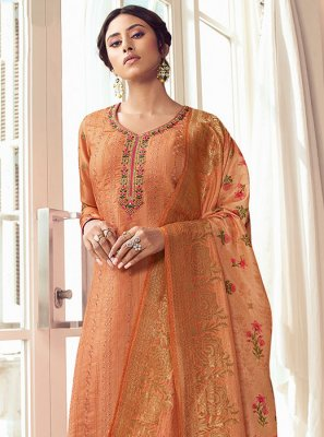 Orange Festival Salwar Kameez