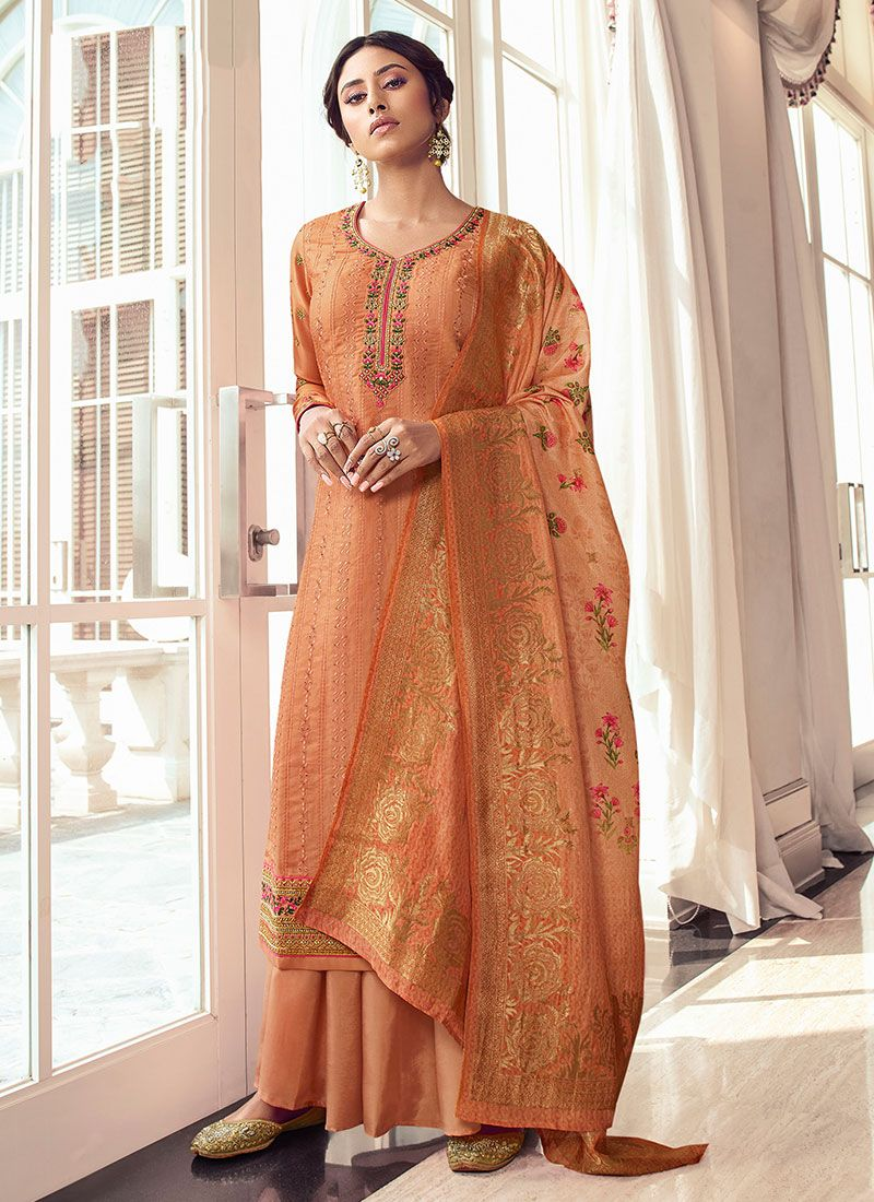 Orange Festival Salwar Kameez