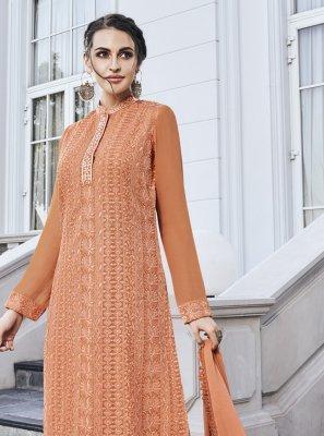 Orange Festival Salwar Suit
